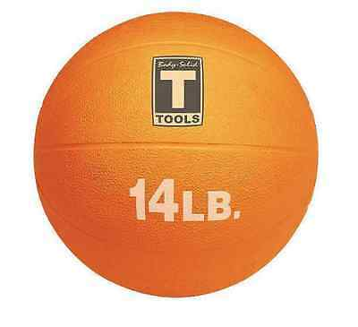 14 lb Weighted Fitness Orange Medicine Ball Home Workout Health Sport 14 lbs NEW