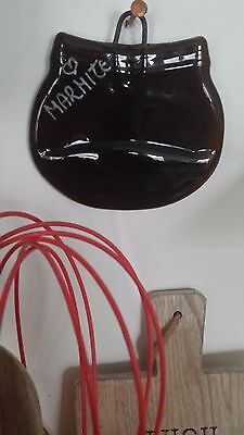 Marmite jar fused flat with hanger and 'Marmite' writing, spoon rest, eco gift.