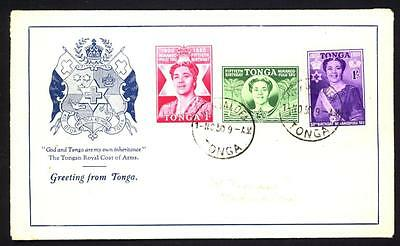 (1) Tonga 1950 FDC Queen Salote's 50th Birthday