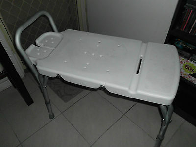 Disability Bath Seat Bench Adjustable Over The Bath Shower Seat