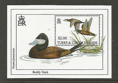 Turks And Caicos 1993 Duck Sheet. Mnh.