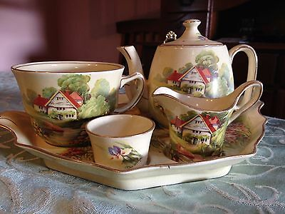 "Royal Winton Grimwades ""Red Roof House""Breakfast set"