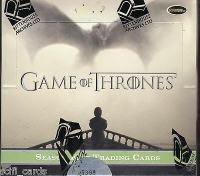 Game of Thrones Season 5 Sealed Box of Trading Cards Rittenhouse 2 Autographs