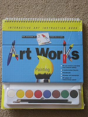 Watercolour Painting Interactive Art Instruction Book - BRAND NEW IN PACK