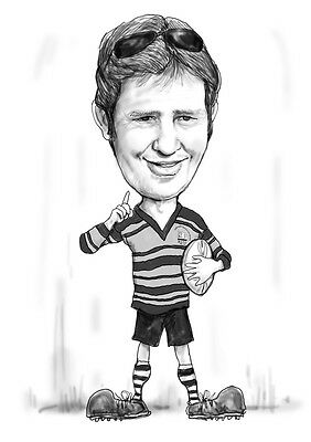 Custom Personalized Blackwhite Caricature/carton Drawing Sketch from your photo