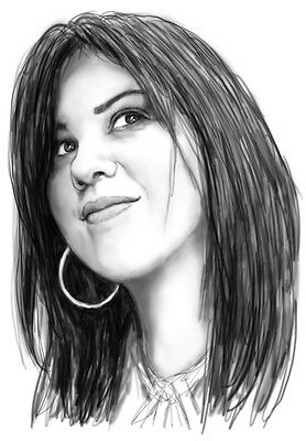 Custom Personalized Blackwhite Drawing Art Portraits from your photo A4 size