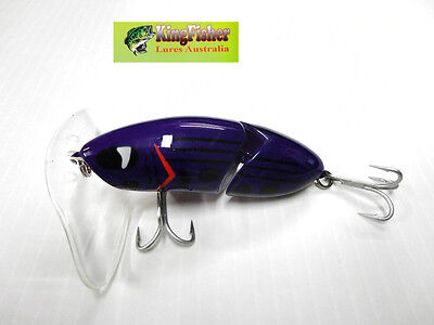 Kingfisher Mantis 88mm articulated surface lure ;10 coachman purple+spare bib