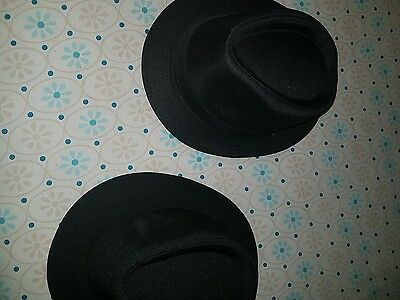 2 blues brothers style hats