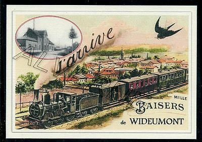 WIDEUMONT  -- ..... TRAIN  ...   souvenir creation moderne serie numerotee