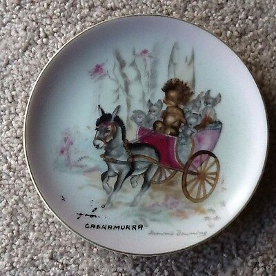 Rare Vintage Brownie Downing Plate - Tinka In Donkey Cart - Collectable