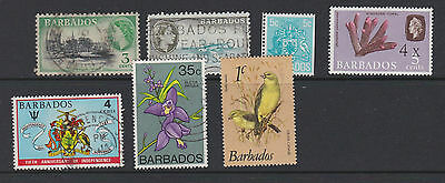 Seven stamps of Barbados