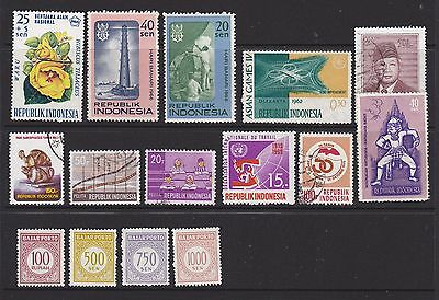 Indonesia stamps. Small mixed group