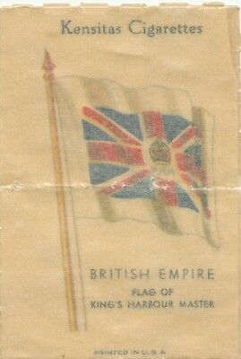 BRITISH EMPIRE FLAGS 1934 Silk Cigarette Card Flag of King's Harbour Master #14