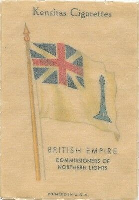 BRITISH EMPIRE FLAGS 1934 Silk Cigarette Card Commissioners Northern Lights #8