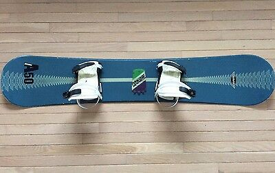 Men's SIMS Brand Snowboard With Bindings Pre-Owned Green Size 142 - (158 Inches)