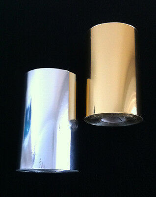 2 X 100mm TOP QUALITY SILVER AND GOLD 125 METER PER ROLL 12 MICRON HOT FOIL