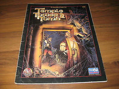 AD&D 2nd Edition Temple, Tower, and Tomb TSR 9448 Adventure 1994 Softcover