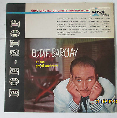 """Eddie Barclay & His Orchestra..""""sixty Minutes Of Uninterrupted Music"""" Lp.33 Rpm"""