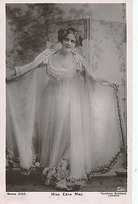 ACTRESS, Miss Edna May Vintage 1906 RP Postcard (S228