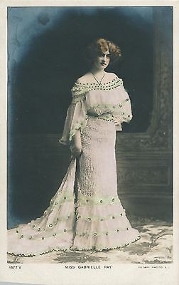ACTRESS, Miss Gabrielle Ray RP Vintage Postcard (O29