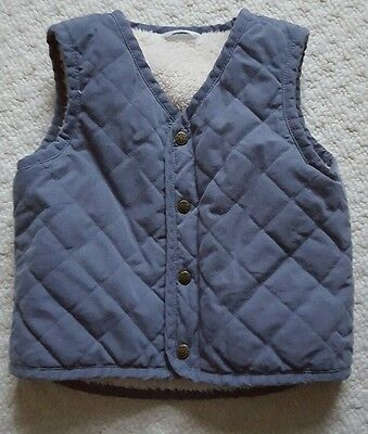 Boden Kids Gilet waistcoat with faux fur lining 12-18 months VGC