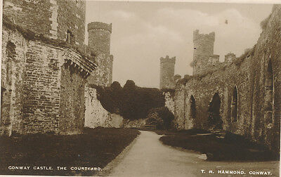 CONWAY CASTLE, THE COURTYARD, CAERNARVONSHIRE - Early RP Postcard