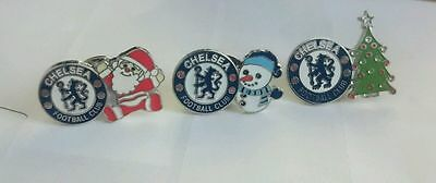 Chelsea Christmas collection pin badges set of 3
