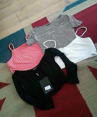 Womens Lot of Topshop & Misguided Tops Size 10
