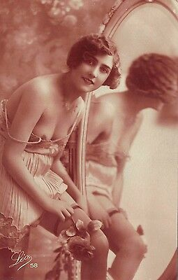Glamour, RP Risqué nudes Erotic French card.  1920's?