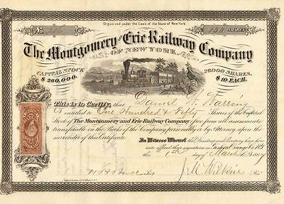 The Montgomery and Erie RR Company 1867