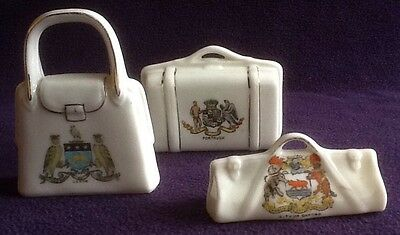 Job Lot CRESTED WARE China Souvenirs BAGS Portrush Leeds Oxford Shelley Arcadian