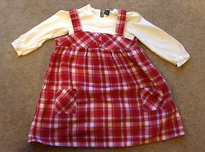 Girls two piece pinafore. 2-3 year