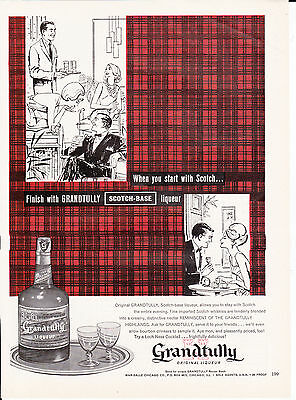 Original Print Ad-1963 When you start with SCOTCH/Finish with Grandtully Liqueur