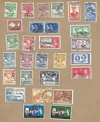 Basutoland: 51 diff. Note dual currencies and overprints/surcharges. (Ref 430)