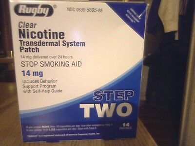 2 Rugby Nicotine Patches Step #2 14Mg Exp-Date April/2019 Total 28 Pat