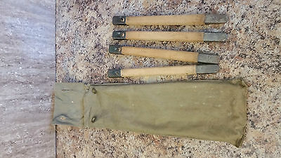 German WWI-WWII tent bag and Pegs.
