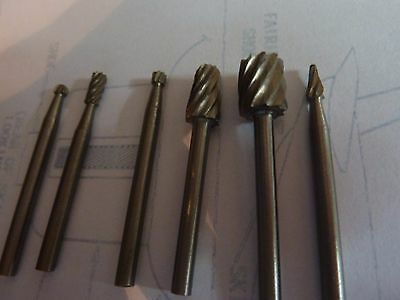 "dremel  american 1/8"" Carbide Steel Rotary Burr files sheet metal aircraft tools"