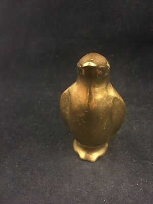 """Vintage Brass Penguin-3.25"""" Inches Tall-Smooth Uniform Brass Color-No Reserve!"""