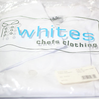 Whites Chefs Jacket. Unisex. Long Sleeves. Extra Small Vegas A134-XS