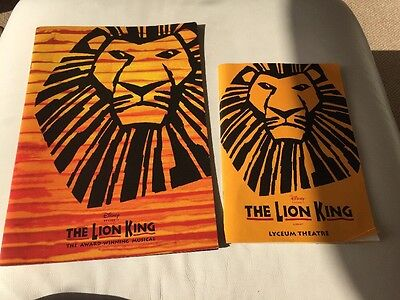 The Lion King Programme Lyceum Theatre Good Condition