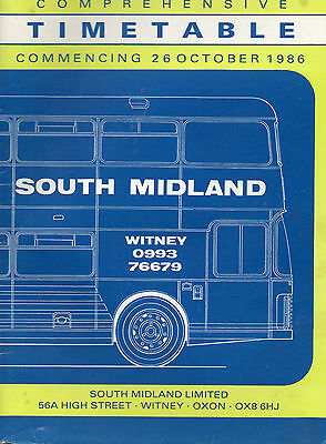 South Midland bus timetable book