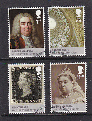 GB 2011  The House of Hanover - M/S - Set of Single Stamps - Fine Used.