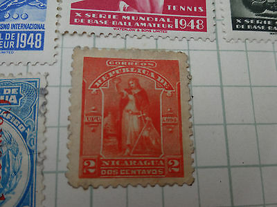STAMPS: NICARAGUA  1894  2 ctS  RED