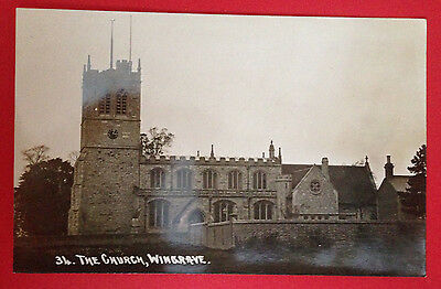 Buckinghamshire - The Church, Wingrave, RP Postcard
