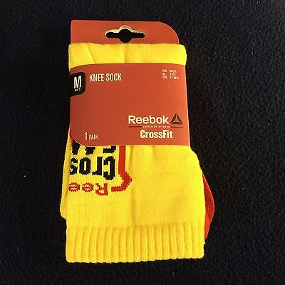NEW REEBOK CROSSFIT GAMES 2014 KNEE LENGTH SOCKS -YELLOW - Mens Training Gift