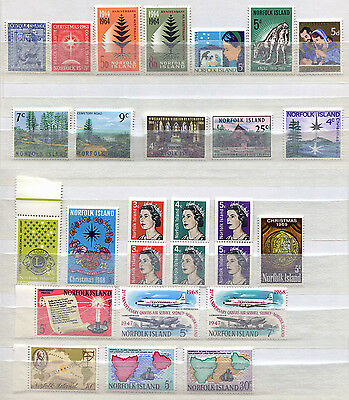 Norfolk Island Set of 41 MNH stamps issued 1962-69 - FREE UK POSTAGE