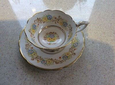 Royal Stafford Pretty Vintage Bone China Cup And Saucer