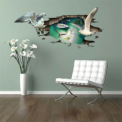 3D Flying Seagulls Room Decor Removable Wall Sticker Decal Decoration Wandtattoo
