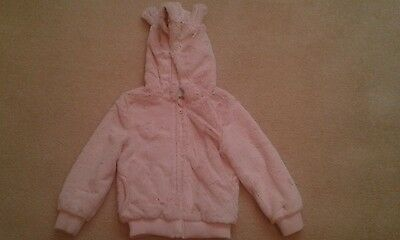 Infant Girls Dus Pink Faux Fur Casual Jacket Age 3-4 Years