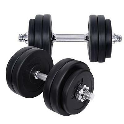 30KG Dumbbell Weight Plate Set Fitness Home Gym Exercise Dumb Bell Adjustable